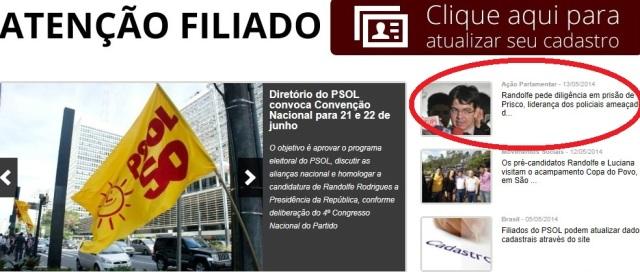 PSOL, prisco, nada de Prefeitos presos