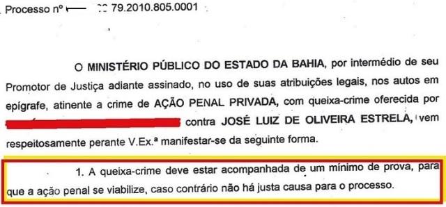 mp bahia, ação penal arquivada, EXTRATO 1 (fl.2, parte 2)