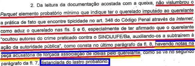 mp bahia, ação penal arquivada, EXTRATO 2 (fl.2, parte 2)