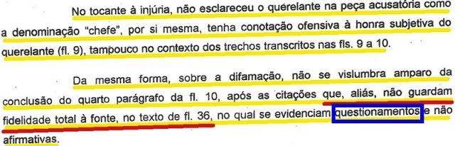 mp bahia, ação penal arquivada, EXTRATO (fl.2,  injúria, difamação...)