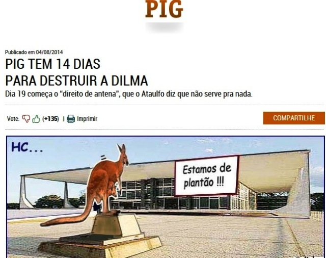 amorim, pig, destruir o governo dila