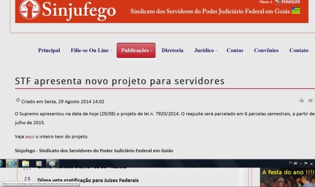 sindjufego, PROJETO DO STF 2