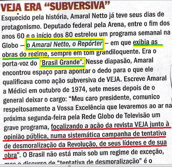 Veja, 06ago14, Amaral Neto 3, subversiva