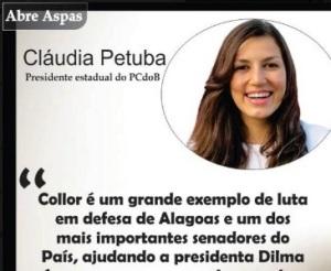 pcdob, ana cládia, presidente em Alagoas