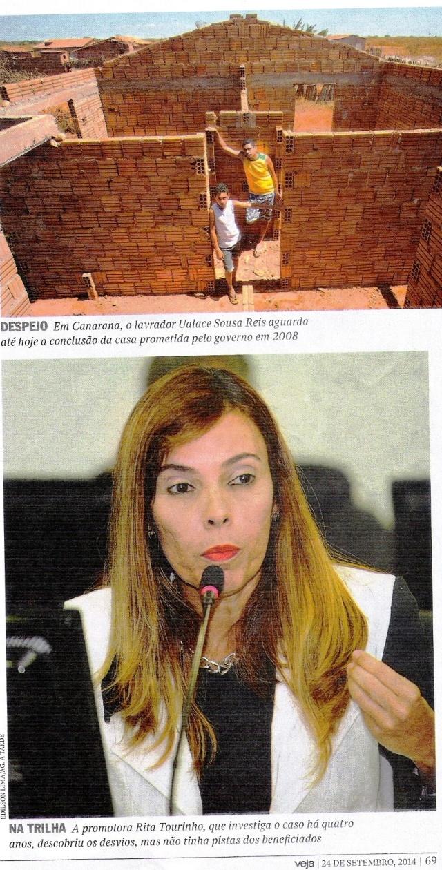 PROMOTORA, DESPEJO, Veja, 24set, canarara, INSTITUTO BRASIL