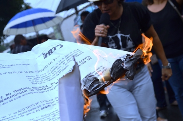 trt, ato queimado