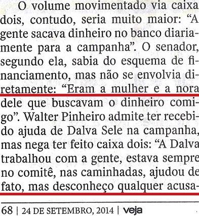 Veja, 24set, ISNTITUTO BRASIL, Canarana 11,  O CAMINHO DO DINDIN,sogra...