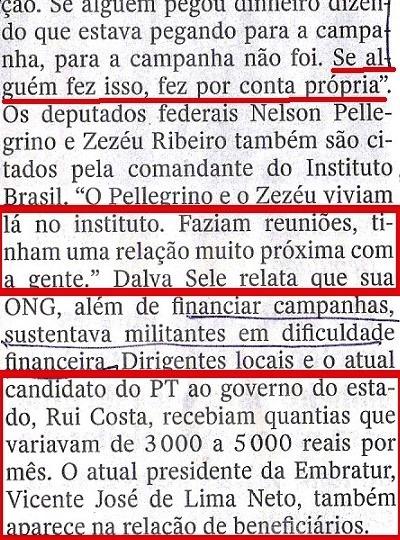 Veja, 24set, ISNTITUTO BRASIL, Canarana 12,  O CAMINHO DO DINDIN...