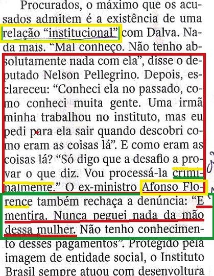 Veja, 24set, ISNTITUTO BRASIL, Canarana 13,  O CAMINHO DO DINDIN..., Florence
