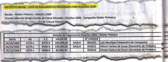 Veja, 24set, ISNTITUTO BRASIL, Canarana 15,  LISTA D EPAGAMENTO