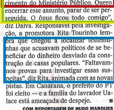 Veja, 24set, ISNTITUTO BRASIL, Canarana 16,  O CAMINHO DO DINDIN...,POMOTORA