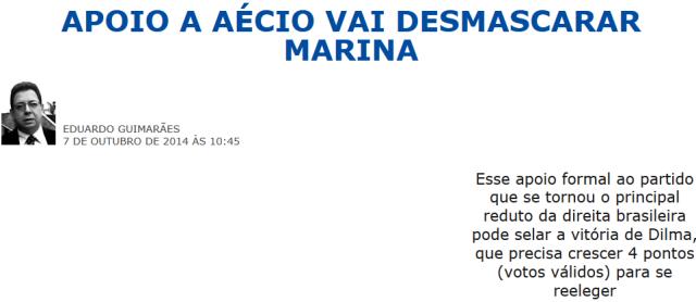247, MARINA É DE DIREITA PORQUE APOIA AÉCIO 2