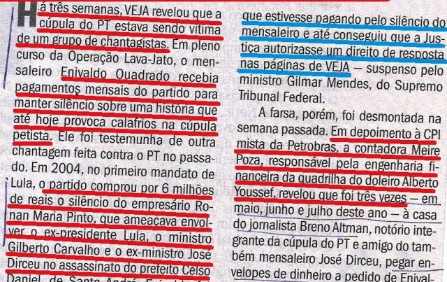 Veja, 15out14, Meiro Poza, chantagem, dóares 2