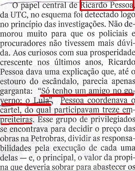 Veja, 19nov14, Ricardo Pessoa, UTC, Lula, o  clube do bilhão