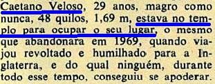 CAETANO VELOSO, 2, Veja, 19jan1972