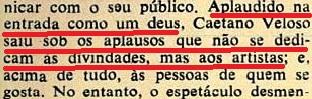 CAETANO VELOSO, Veja, 19jan1972