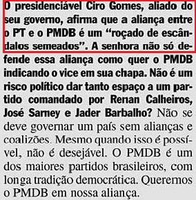 DILMA, ciro gomes,  VEJA, 24FEV2010, ed. 2153
