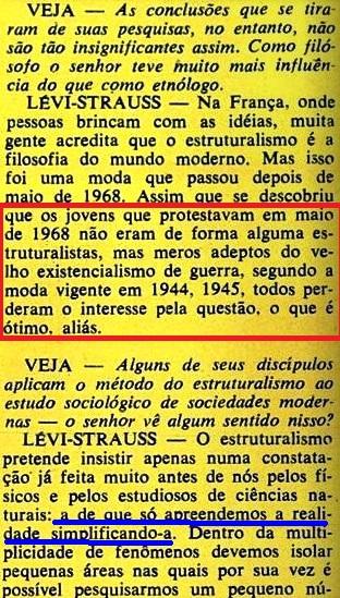 ESTRUTURALISMO, LEVY-STRAUS, 6, veja, 19jan1972