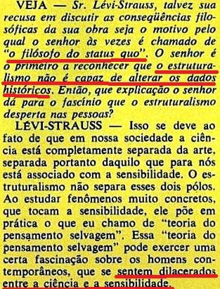 ESTRUTURALISMO, LEVY-STRAUS, 8, veja, 19jan1972
