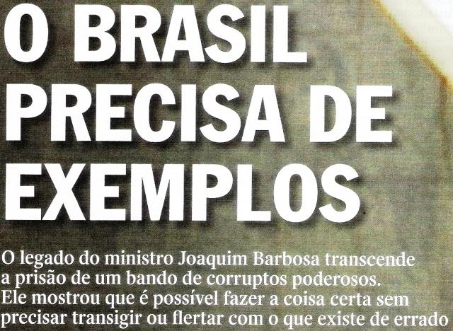Joaquim Barbosa do Brasil, texto