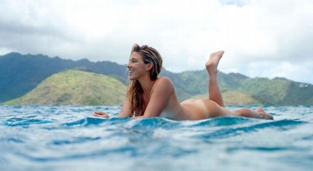 mulher, surfista Coco, Havai