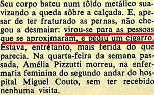 UM  CONTO REAL DE NELSO RODRIGUES,6, NATAL Veja, 5jan72