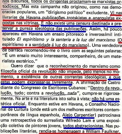 VARGAS Llosa, CONRA VENTO E MARÉ, fl. 31, fidel, liberdade expressão Cuba