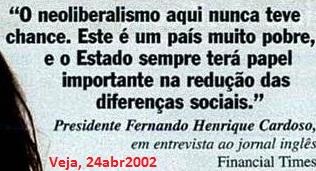 Veja, FHC, neoliberalismo, 24abr2002