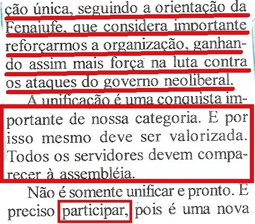 SINTRAB, 2002, UNIFICAÇÃO, DETALHE 2