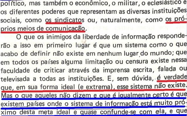 VARGAS lLHOSA, CONTRA VENTO E MARÉ, LIBERDADE DE INFORMAÇÃO,fl.285, parte 2