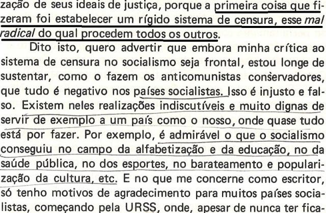 VARGAS lLHOSA, CONTRA VENTO E MARÉ, LIBERDADE DE INFORMAÇÃO,fl.287, parte 3
