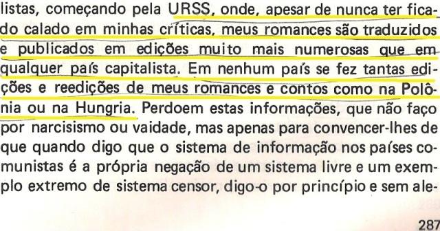 VARGAS lLHOSA, CONTRA VENTO E MARÉ, LIBERDADE DE INFORMAÇÃO,fl.287, parte 4