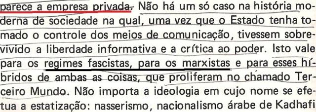VARGAS lLHOSA, CONTRA VENTO E MARÉ, LIBERDADE DE INFORMAÇÃO,fl.288, parte 3