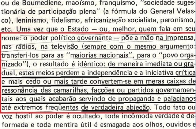 VARGAS lLHOSA, CONTRA VENTO E MARÉ, LIBERDADE DE INFORMAÇÃO,fl.289, parte 1