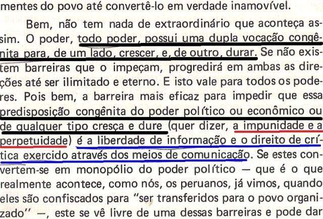 VARGAS lLHOSA, CONTRA VENTO E MARÉ, LIBERDADE DE INFORMAÇÃO,fl.289, parte 2