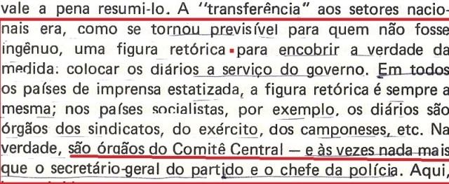 VARGAS lLHOSA, CONTRA VENTO E MARÉ, LIBERDADE DE INFORMAÇÃO,fl.296