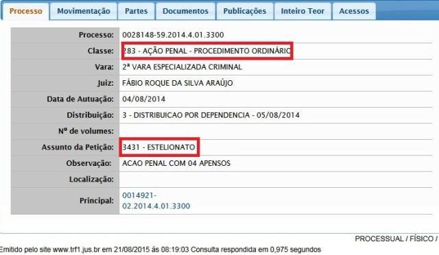 AÇÃO CRIMINAL ORDINÁRIA, NÉLIO