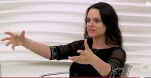 JANAÍNA PASCOAL E HÉLIO BICUDO, RODA VIVA, 21, Janaína com as mãos
