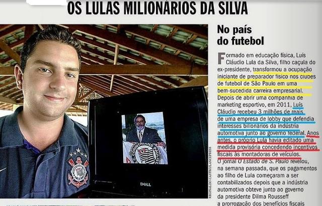 lula, zelotes, filho, FUTEBOL AMERICANO