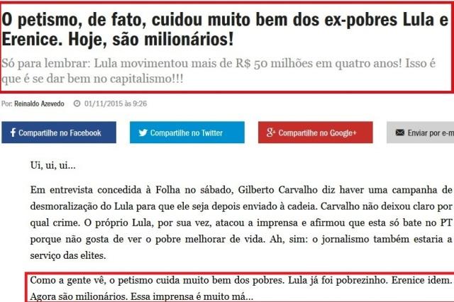 REINALDO AZEVEDO, OS MILIONÁRIOs DO PT 2