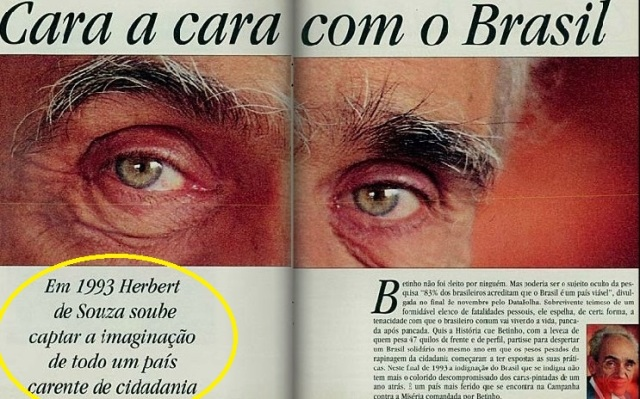 betinho, cara a cara 1, Veja dez 1993