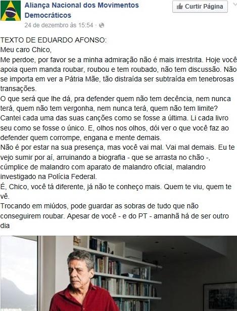 chico buarque tá diferente, EDUARDO AFONSO