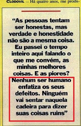 Clodovil, Veja, jan 1993
