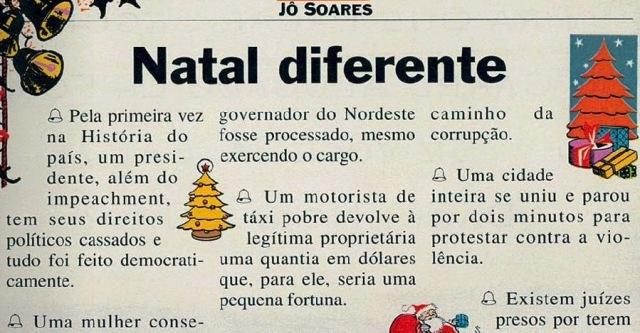 FELIZ NATAL 1, um natal diferente, Veja, 29 dez1993