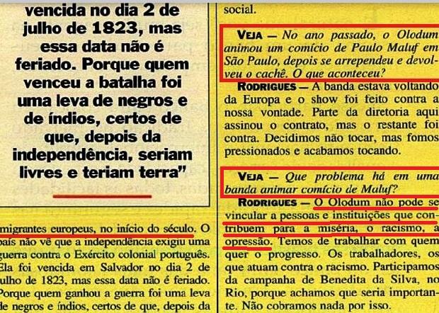 JOÃO JORGE 19, OLUDUM, AMARELAS, VEJA MAIO1993