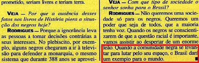 JOÃO JORGE 20, OLUDUM, AMARELAS, VEJA MAIO1993