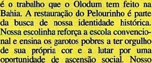 JOÃO JORGE, OLUDUM, AMARELAS 11, VEJA MAIO1993