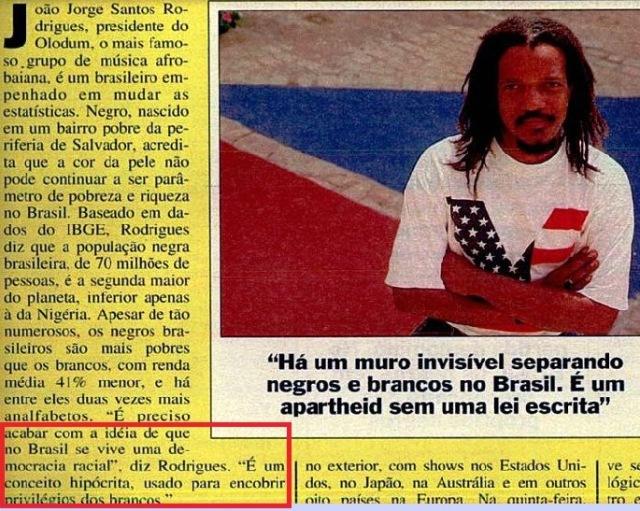 JOÃO JORGE, OLUDUM, AMARELAS 2, VEJA MAIO1993