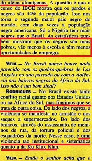 JOÃO JORGE, OLUDUM, AMARELAS 6, VEJA MAIO1993