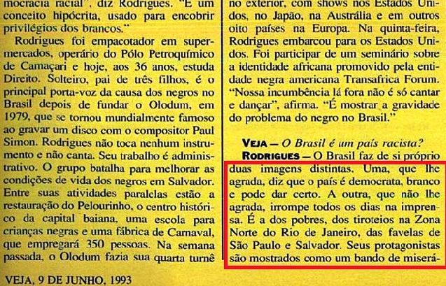 JOÃO JORGE, OLUDUM, AMARELAS 3, VEJA MAIO1993